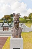 Busto de Jang Yeong Sil en el castillo de Dongnae en Busán, Corea Imagen de archivo libre de regalías