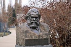 Busto de Karl Marx foto de archivo
