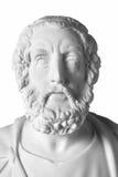 Busto de mármol blanco del poeta griego Homer imagen de archivo libre de regalías