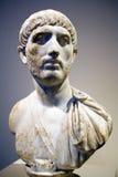 Busto de mármol romano del hombre Foto de archivo