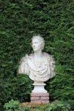 Busto de mármore antigo fotografia de stock