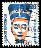 Busto de Nefertiti, Berlín, serie de las vistas, circa 1989 imagen de archivo