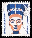Busto de Nefertiti, serie turístico de las vistas, circa 1988 imagenes de archivo