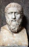 Busto de Platón Imagenes de archivo