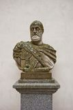 Busto de Roman Emperor Charles santamente V no castelo do Alcazar, Segovia imagens de stock