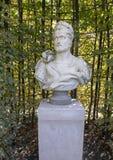 Busto de Roman Emperor, jardim do mármore de Carrara da escultura, Rijksmuseum, Amsterdão, Países Baixos imagem de stock