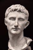 Busto del emperador Augustus foto de archivo