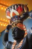 Busto del faraón imagen de archivo