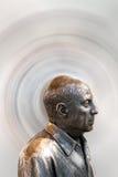Busto del metal del pintor famoso Pablo Picasso Foto de archivo libre de regalías