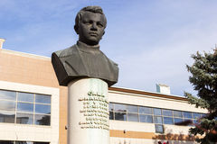 Busto del muchacho del explorador Sashi Filippova Stalingrad, Rusia fotos de archivo libres de regalías