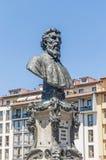 Busto di Benvenuto Cellini a Firenze, Italia Fotografia Stock