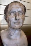 Busto di Caesar nel museo archeologico nazionale di Napoli Immagini Stock Libere da Diritti