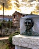 Busto di Daniel Pratt fotografie stock