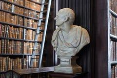 Busto di Demostene in Trinity College Fotografie Stock