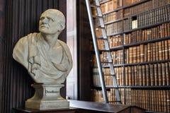 Busto di Demostene in Trinity College Fotografia Stock