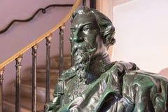 Busto di Don Fernando II al palazzo di Pena nel comune di Sintra, Portogallo fotografie stock