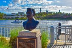 Busto di Henry Bradley Plant a riverwalk nel centro della città immagine stock libera da diritti
