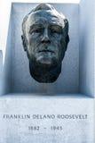 Busto di presidente Roosevelt a Franklin D Roosevelt Four Freedoms Park Fotografia Stock