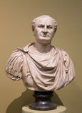 Busto di Titus Flavius Vespasian fotografie stock