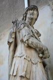 Busto di un combattente, in Castelfranco, l'Italia Immagini Stock Libere da Diritti