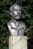 Busto do compositor P Mim Tchaikovsky em Kaliningrad, Rússia Imagens de Stock Royalty Free
