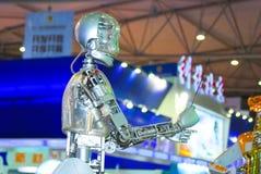 Busto do robô Fotografia de Stock