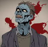 Busto do zombi Fotografia de Stock Royalty Free