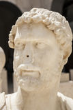Busto romano de Hadrian sem o nariz Imagem de Stock Royalty Free