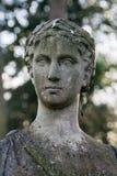Busto romano de piedra Fotografía de archivo