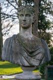 Busto romano de piedra Foto de archivo libre de regalías