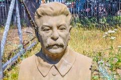 Busto viejo del líder soviético Joseph Stalin fotos de archivo libres de regalías