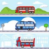 Bustransportfahnen stockfoto