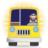 Bustreiber mit Bus Lizenzfreie Stockfotografie
