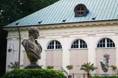 Busts old orangery Royalty Free Stock Photography