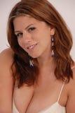 busty женский портрет Стоковое Изображение