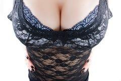Busty woman closeup Stock Photos