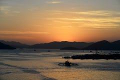 Busuanga Island Harbor Dawn Royalty Free Stock Images