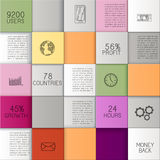 Busuness Background with Colorful squares. Abstract business template or user interface with colorful squares, infographic template with copy space, EPS 10 Royalty Free Stock Images