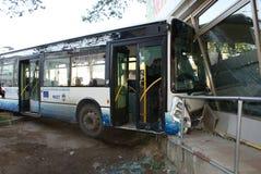 Busunfall lizenzfreies stockfoto