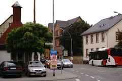 Busverkeer Bischofsheim Stock Foto
