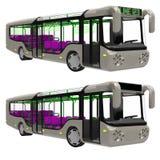 Busvoorzijde met het draaien van wiel Royalty-vrije Illustratie