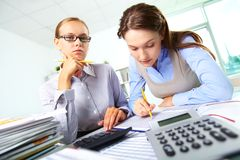 Busy accountants Stock Image