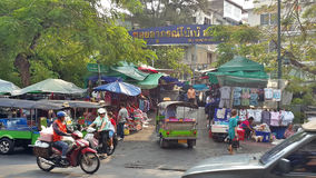 Busy activity in Bangkok inner old down town Stock Photos