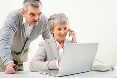 Busy adult people Royalty Free Stock Photos