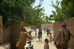 Busy Afghan Village Square Royalty Free Stock Photography