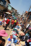 Busy African rural market Stock Images