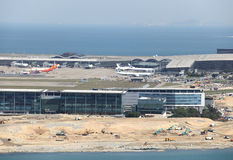 Busy airline hub in Lantau Stock Photos