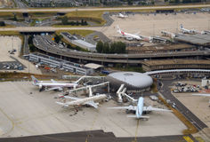 Busy airport terminal - Paris Stock Photography