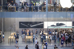 Busy apple store Stock Image