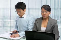 Busy Asian people Royalty Free Stock Photos